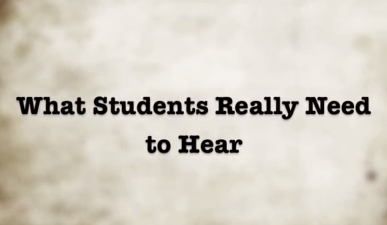 What Students Need to Hear Screen Shot